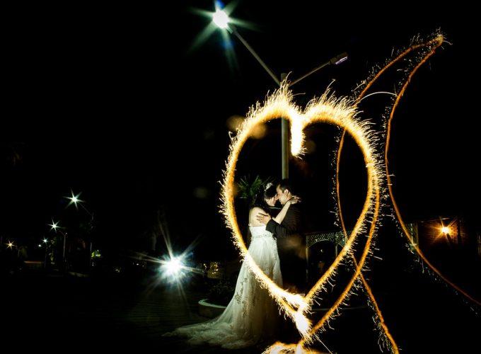 svatební ohňostroj